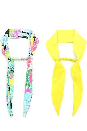 AMIR SLAMA Pack de 2 pañuelos para el pelo