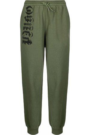 Pinko Pantalones de chándal con logo y cordones