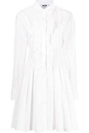 Msgm Ruffle-detail shirt dress