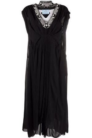 Prada Vestido largo con efecto drapeado