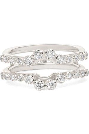 ANNOUSHKA Anillo Marguerite en oro blanco de 18kt con diamantes