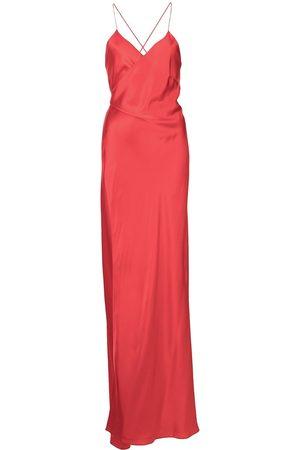 Michelle Mason Vestido de fiesta con tiras cruzadas