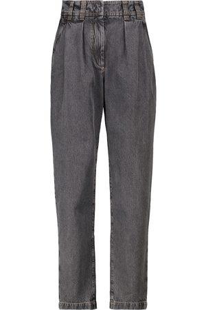 Brunello Cucinelli Jeans tapered de tiro alto