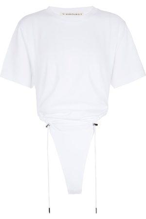 Y / PROJECT Body de algodón fruncido