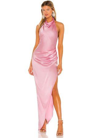 Amanda Uprichard Vestido largo samba en color rosado talla L en - Pink. Talla L (también en XS, S, M).