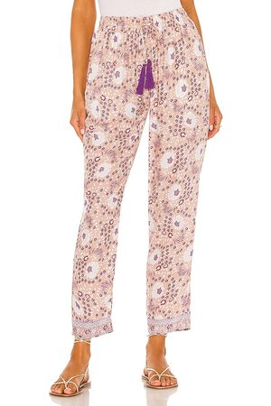 Natalie Martin Pantalón bianca en color beige,lavender talla L en - Beige,Lavender. Talla L (también en XS, S