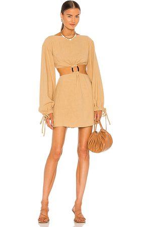 L'Academie Mujer Vestidos - Vestido alora en color talla L en - Tan. Talla L (también en XS, S, M, XL).