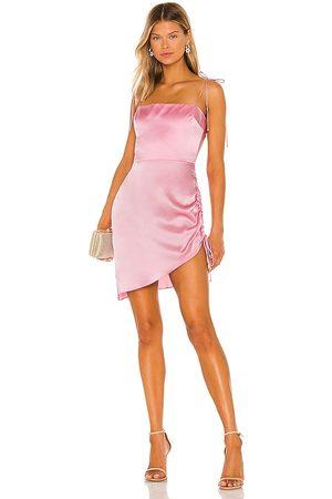 Amanda Uprichard Vestido chiara en color rosado talla L en - Pink. Talla L (también en XS, S, M).