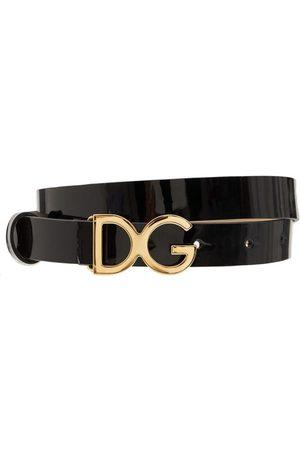 Dolce & Gabbana   Niño Cinturón De Piel Con Hebilla Con Logo L
