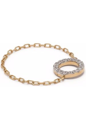 DJULA Anillo en oro amarillo de 18Kt con diamantes