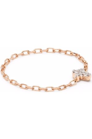 DJULA Anillo con cruz en oro rosa de 18kt con diamantes