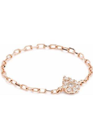 DJULA Anillo en oro rosa de 18kt con diamantes y cadena
