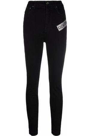 Dolce & Gabbana Logo-embellished skinny jeans
