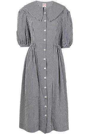 Shrimps Puff-sleeve shirt dress