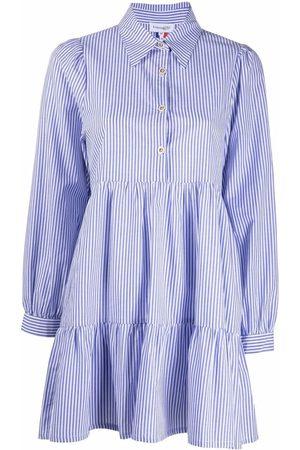La Seine & Moi Vestido camisero a rayas con botones