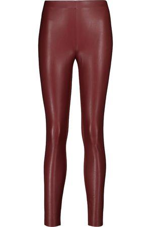 Wolford Leggings Jo de piel sintética y punto