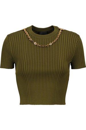 Givenchy Jersey acanalado con cadena