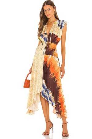 AMUR Vestido midi milan en color bronce talla 0 en - Tan. Talla 0 (también en 10, 2, 4, 6, 8).