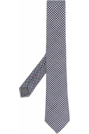 Brunello Cucinelli Hombre Corbatas y corbatín - Corbata con motivo pied de poule