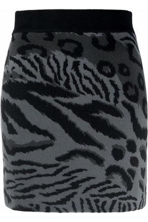 Kenzo Falda de punto con estampado de tigre