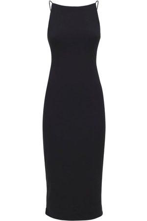 James Perse Mujer Casual -   Mujer Vestido Midi Cami De Jersey De Algodón 0