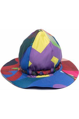 SACAI Sombrero de verano con estampado abstracto
