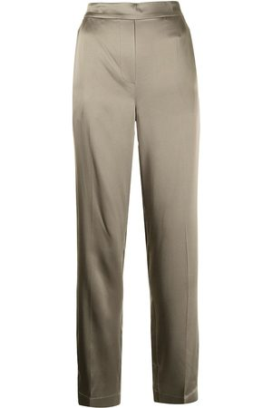 Joseph Mujer Pantalones de talle alto - Pantalones rectos Tova de seda