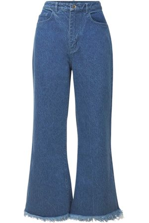 MARQUES'ALMEIDA   Mujer Jeans Acampanados De Denim De Algodón Orgánico 4