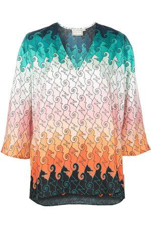Mary Katrantzou Blusa de seda con estampado geométrico