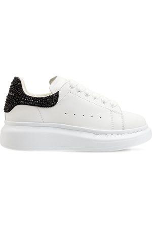 Alexander McQueen | Niña Sneakers De Piel Con Cordones /negro 33