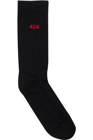 424 FAIRFAX Hombre Calcetines -   Hombre Calcetines De Algodón Con Logo Unique