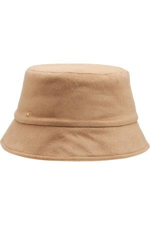 Max Mara Mujer Sombreros -   Mujer Sombrero Reversible Fiducia De Camello Y Seda 57