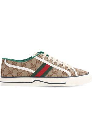 "Gucci | Mujer Sneakers "" Tennis 1977"" De Lona 10mm /verde 35"