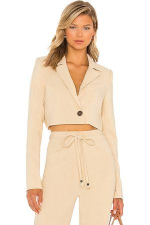 House of Harlow X sofia richie prague cropped blazer en color neutral talla L en - Neutral. Talla L (también en XXS, X