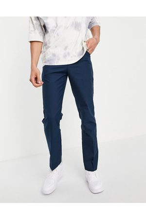 Farah Hombre Pantalones chinos - Pantalones de corte slim Hopsack 100 de