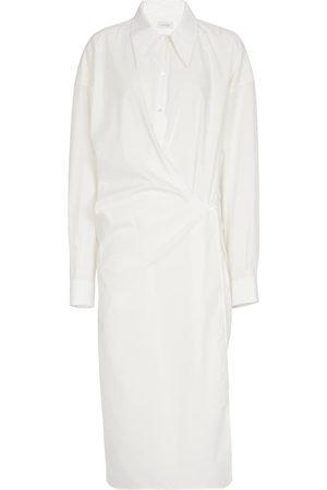 LEMAIRE Vestido camisero de algodón fruncido