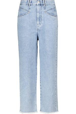 Isabel Marant Jeans Dilali cropped deshilachados