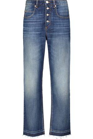 Isabel Marant, Étoile Jeans Belden de tiro alto de algodón