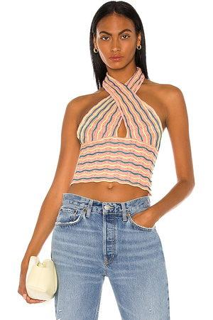 Bardot Summer loving halter top en color durazno talla L en - Peach. Talla L (también en XS, S, M).