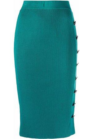 Pinko Mujer Faldas - Falda de canalé con botones