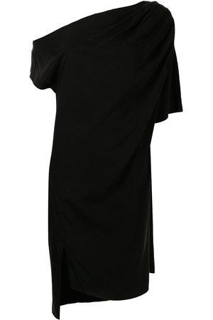 Lisa von Tang Mujer Cóctel - Vestido midi asimétrico con drapeado