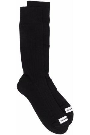 Jil Sander Hombre Calcetines - Logo-patch socks
