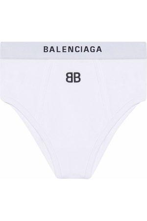 Balenciaga Mujer Braguitas - Bragas deportivas con logo bordado