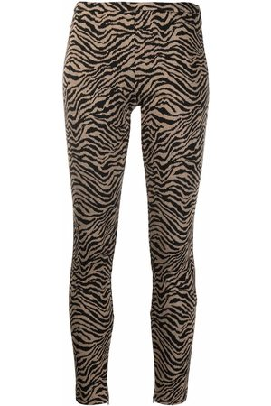 Pinko Pantalones slim con motivo animal