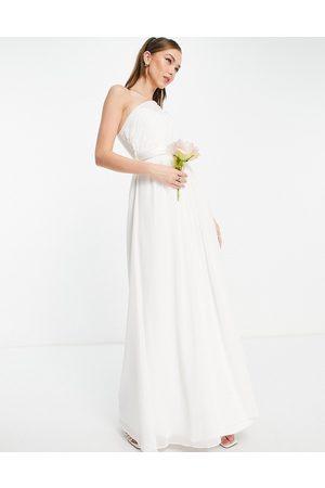 Little Mistress Vestido de novia largo blanco asimétrico de
