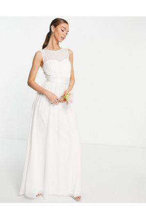 Little Mistress Vestido de novia largo blanco con diseño estructurado de