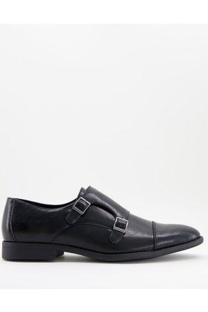ASOS Zapatos Monk de efecto cuero en con panel en relieve de