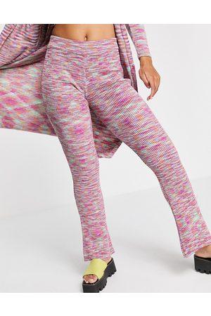 ASOS Pantalones de campana con diseño de hilos mezclados de punto de (parte de un conjunto)