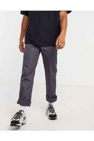 Dickies Pantalones de oficina grises carbón de corte recto slim 873 de