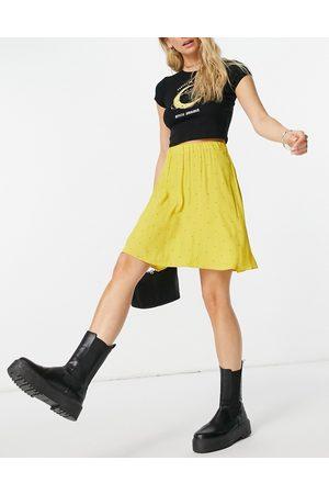 Y.A.S Minifalda amarilla vaporosa con estampado de lunares de -Multicolor